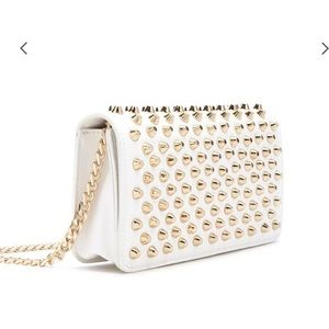 NWT Gold Spiked Leather Crossbody Bag